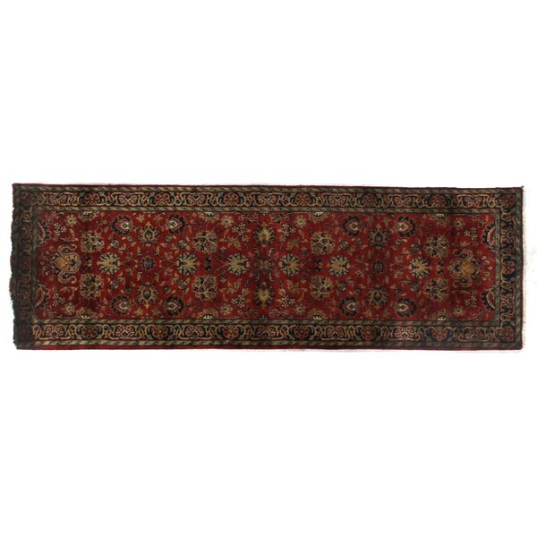 Super Mashad Hand-Knotted Wool Black/Cream Area Rug by Exquisite Rugs