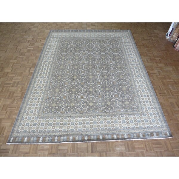 One-of-a-Kind Railsback Oushak Hand-Knotted Wool Gray Area Rug by Astoria Grand
