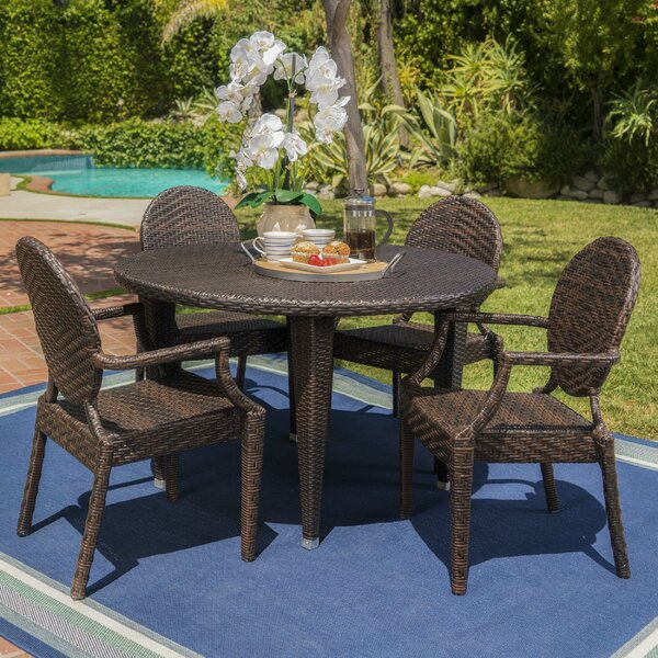 Zivah 5 Piece Dining Set by Ophelia & Co.