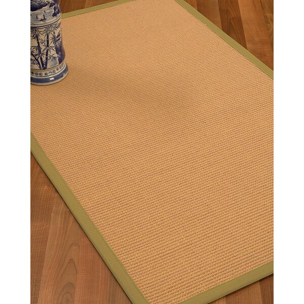 Lafayette Border Hand-Woven Wool Beige/Natural Area Rug by Bay Isle Home