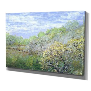 'Apple Trees Blooming' by Claude Monet Painting Pr