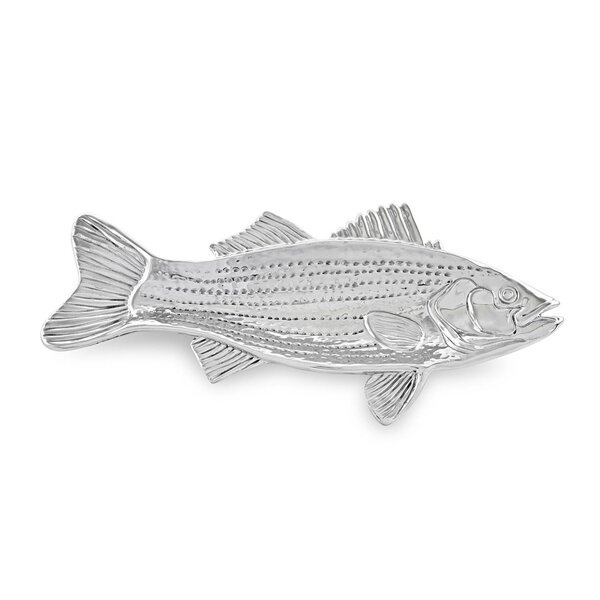 Ocean Striped Bass Platter (Set of 2) by Beatriz Ball