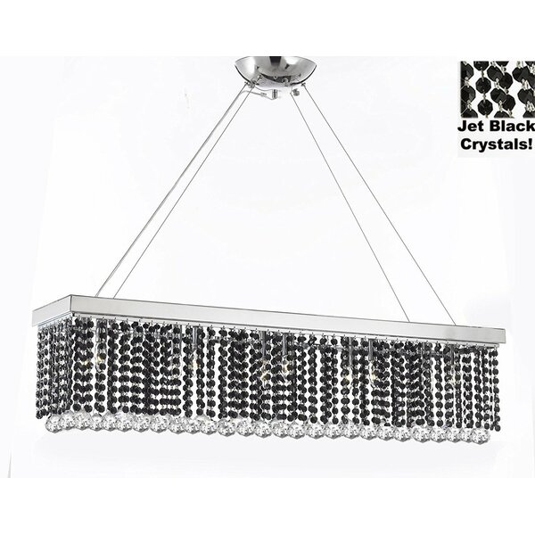 Hudkins 10 - Light Unique / Statement Square / Rectangle Chandelier By Orren Ellis