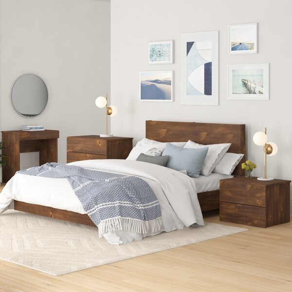 Frank Platform 4 Piece Bedroom Set by Foundstone