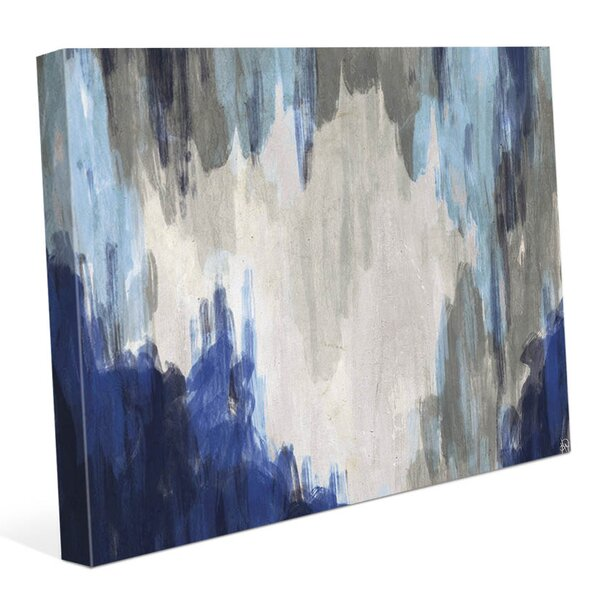 Hidden Cave Blue Painting Print on Wrapped Canvas by Click Wall Art