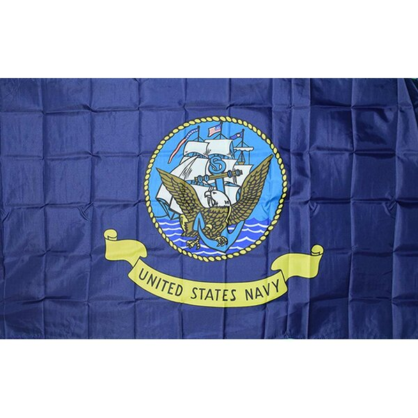 Navy 2-Sided Polyester 3x5 ft Rectangle Flag by Ne