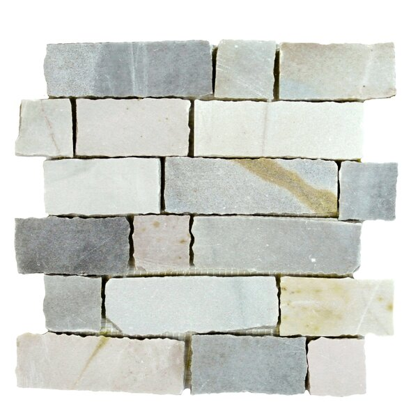 Ardesia Random Sized Slate Splitface Tile in Desert Grey by Abolos