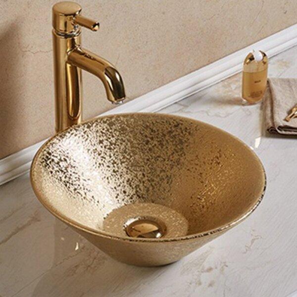 Ceramic Circular Vessel Batroom Sink