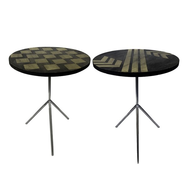 Degnan Contemporary 2 Piece End Table Set by Brayden Studio Brayden Studio