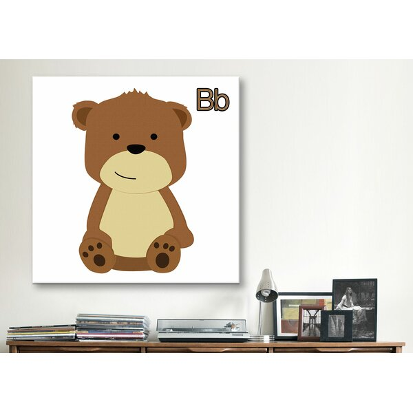 B is for Bear Graphic Canvas Wall Art by Zoomie Kids