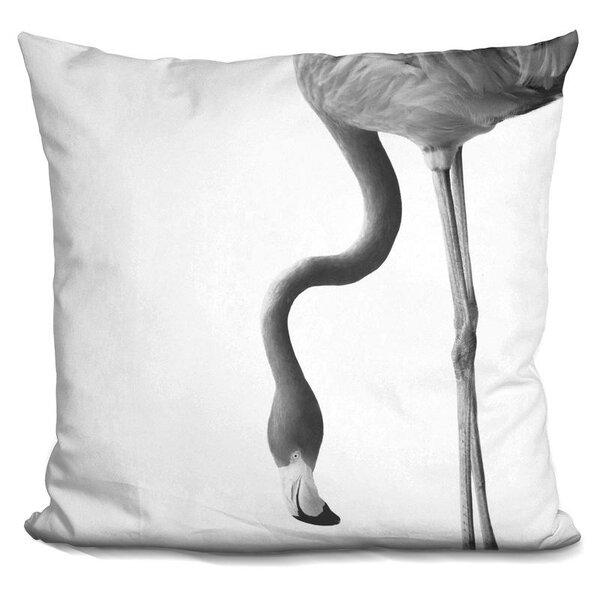 Holbert Flamingo Throw Pillow by Wrought Studio