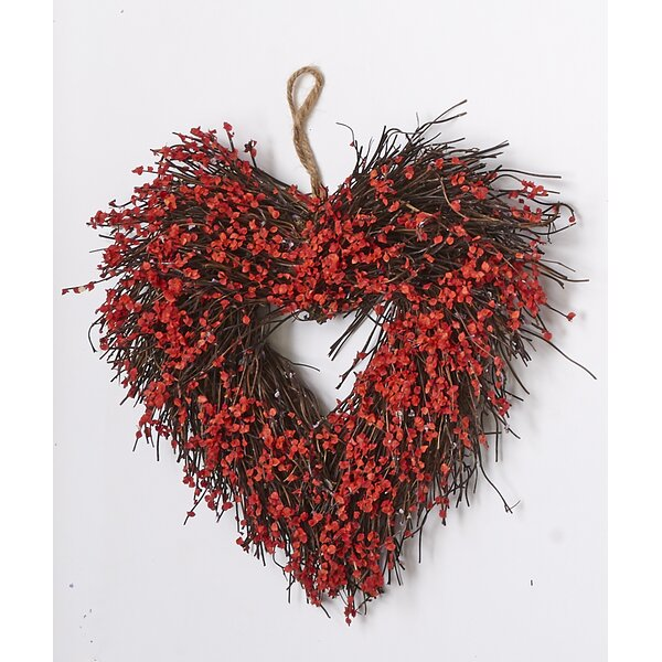 Heart 11 Wreath by August Grove