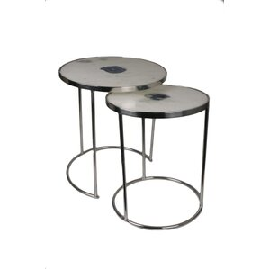 Marble Round 2 Piece Nesting Tables by Jodhp..