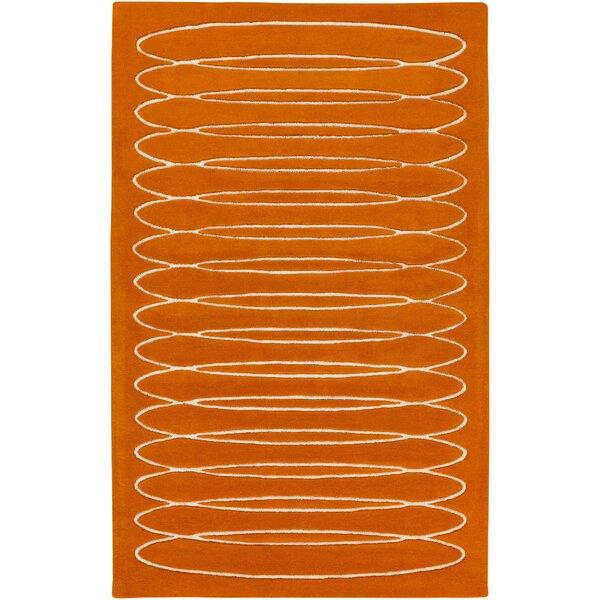 Hand-Tufted Wool Orange Area Rug by Bobby Berk Home