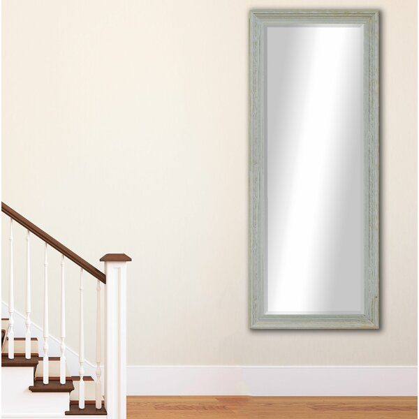 Pearl Beveled Scratches Full Length Mirror by Millwood Pines