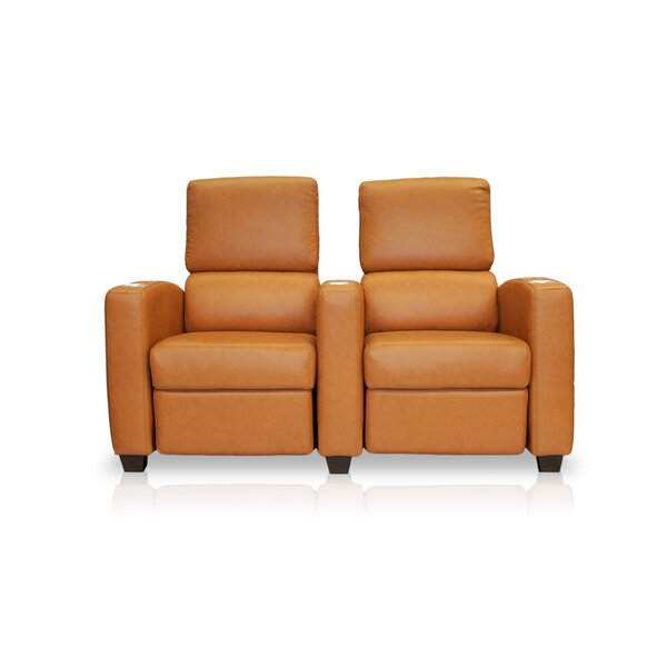 Deco Penthouse Leather Home Theater Row Seating (Row Of 2) By Bass
