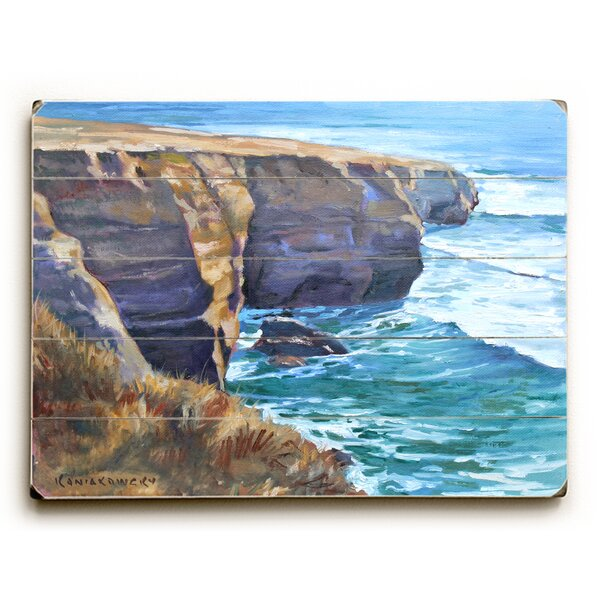 Sunset Cliffs Painting Print on Plaque by Highland Dunes