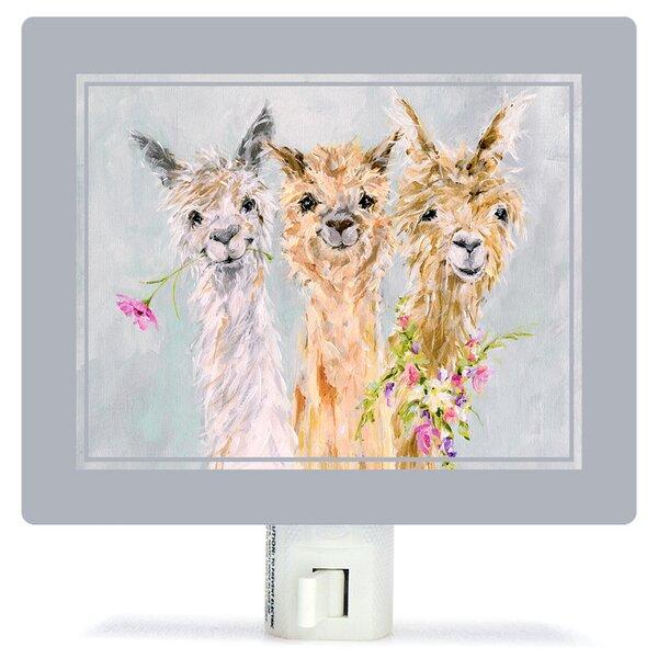 Sweet Alpacas by Susan Pepe Night Light by Oopsy Daisy