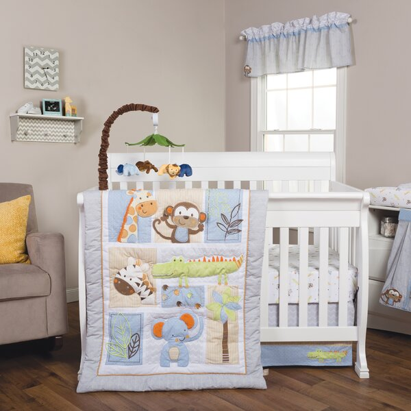Jungle Fun Animal Fitted Crib Sheet by Trend Lab
