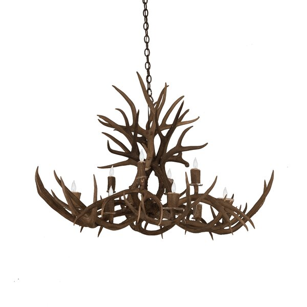 Scruggs 10 - Light Unique / Statement Tiered Chandelier with Antler Accents by Loon Peak Loon Peak