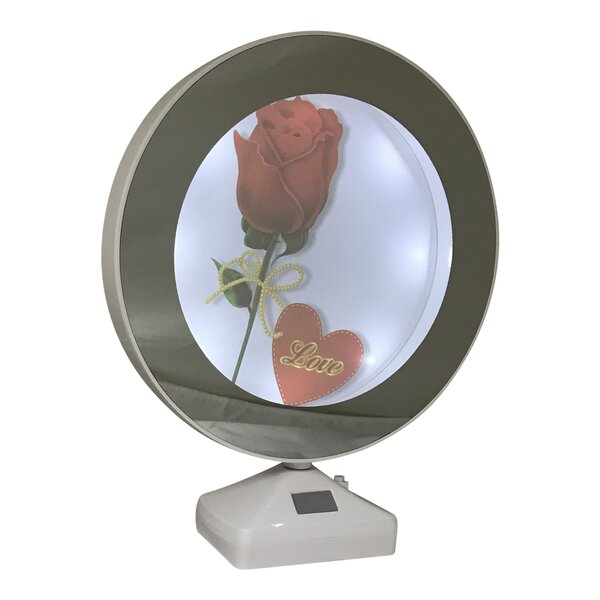 Koby Round Lighted Mirrored Picture Frame by Orren Ellis