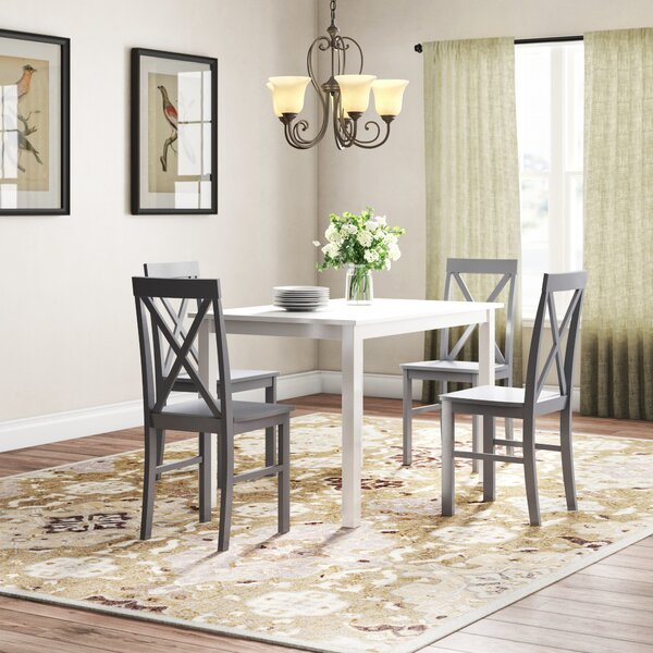 Rarick 5 Piece Solid Wood Dining Set by August Grove August Grove