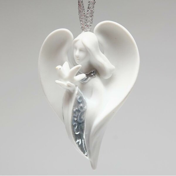 Angel of Peace Hanging Porcelain Figurine by The H