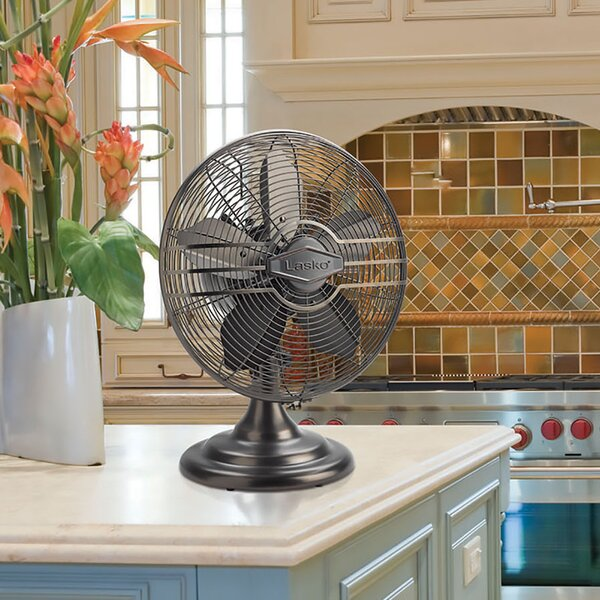 Classic Metal Oscillating Tower Fan by Lasko