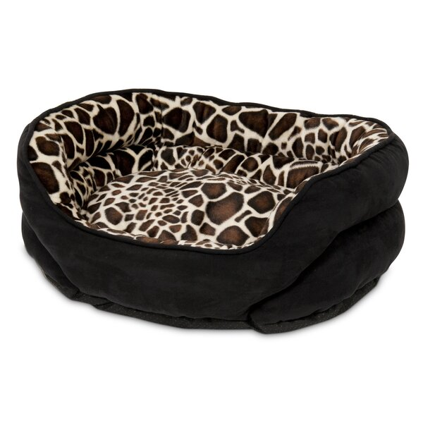 Milbourn Oval Giraffe Print Bolster Dog Bed by Tuc