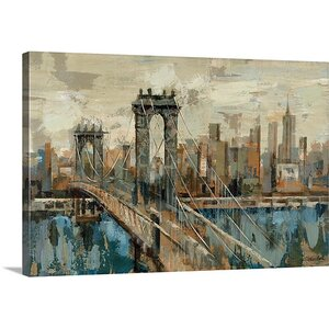 'New York View' by Silvia Vassileva Painting Print on Canvas by Canvas On Demand