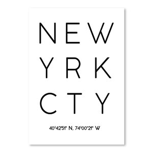 New York City Textual Art by East Urban Home