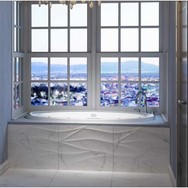 Riva Right-Hand Heater 62 L x 43 W Drop In Whirlpool Bathtub by Jacuzzi®