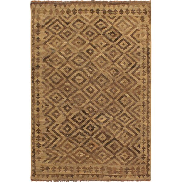 One-of-a-Kind Jorge Handmade Kilim Wool Light Brown/Beige Area Rug by Isabelline