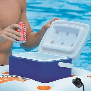 Riverland Inflatable Cooler and Beverage Holder by