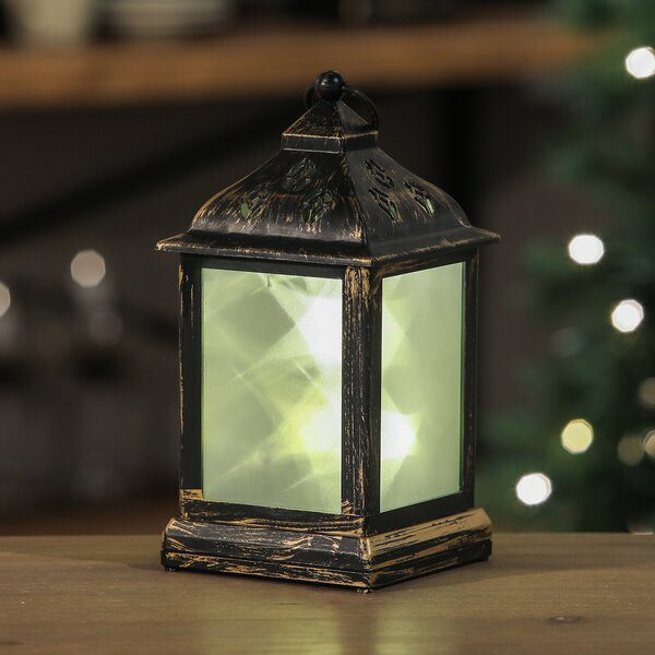 Star Light LED Square Glass/Plastic Lantern by Millwood Pines