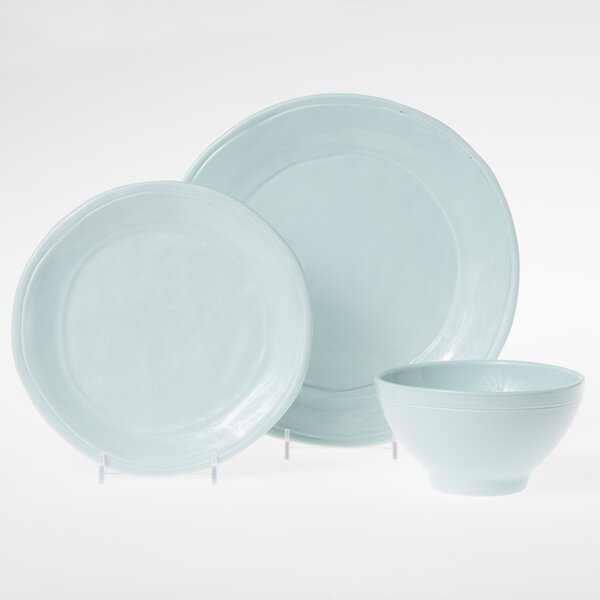 Fresh 3 Piece Place Setting Set, Service for 1 by Viva by Vietri