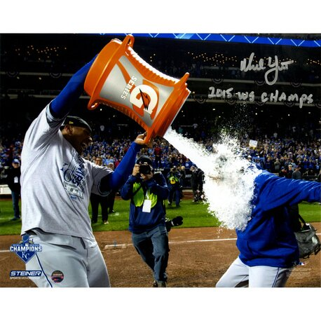 Ned Yost Signed 2015 World Series Gatorade Bath Graphic Art by Steiner Sports