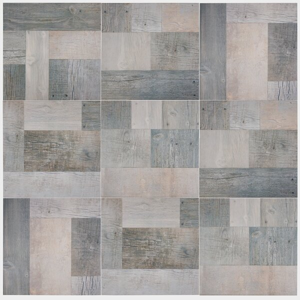 Cabin 17.38 x 17.38 Porcelain Wood Look/Field Tile in Gris by EliteTile