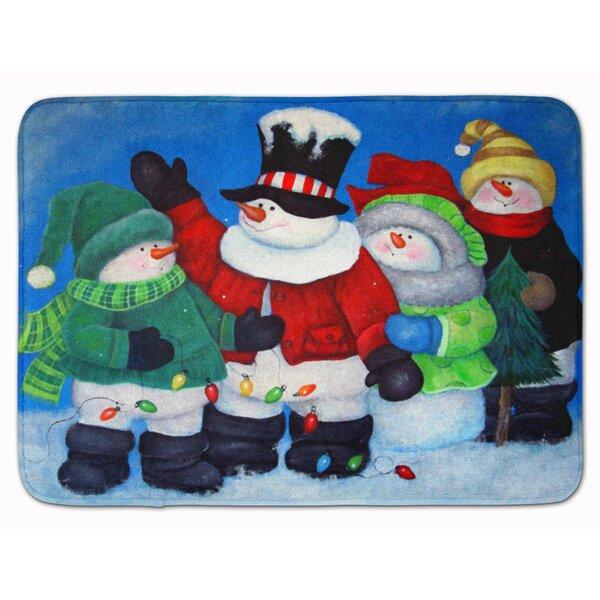 Snowman The Light Brigade Memory Foam Bath Rug by The Holiday Aisle