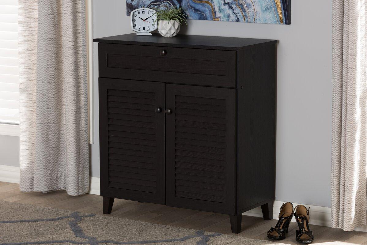 12-Pair Shoe Storage Cabinet