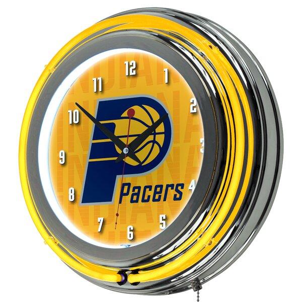 NBA City Neon 14.5 Wall Clock by Trademark Global