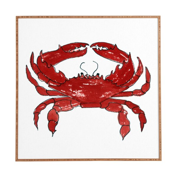 Crab Framed Painting Print by Breakwater Bay