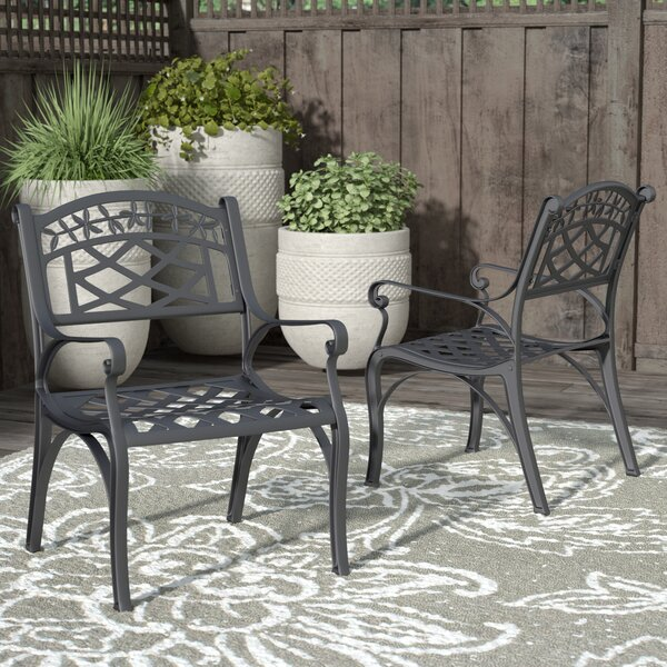 Carmen Patio Dining Chair (Set of 2) by Sol 72 Outdoor