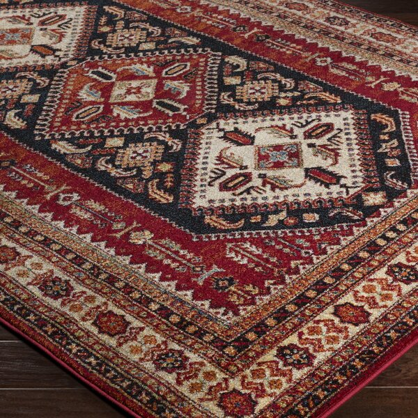 Brahim Red/Brown Area Rug by World Menagerie