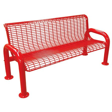 U-Leg Metal Park Bench by Leisure Craft