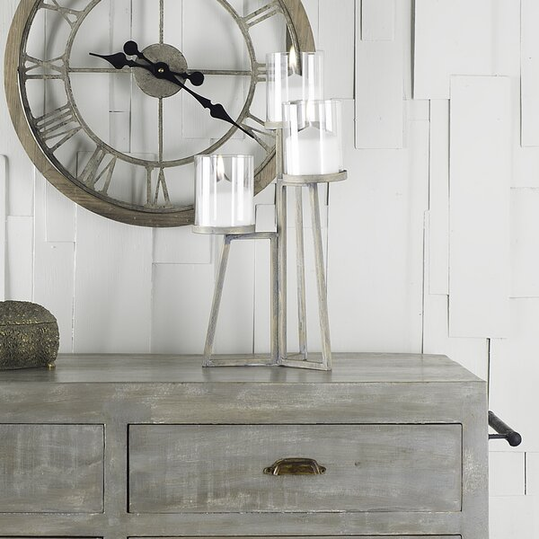 Metal and Glass Candelabra by Union Rustic