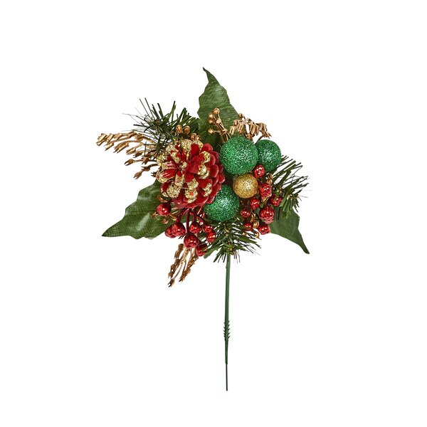 Berry Cone Ball Ornament (Set of 12) by The Holiday Aisle