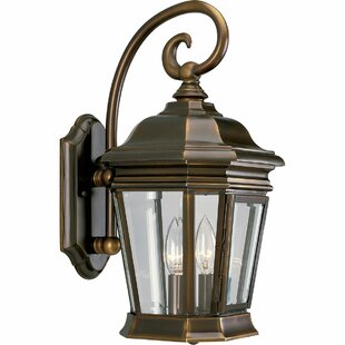 Reviews Triplehorn 2-Light Outdoor Panels Wall Lantern By Alcott Hill