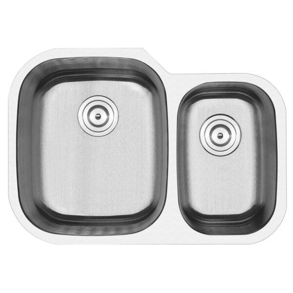 Foster Stainless Steel 29.5 L x 22 W Double Basin Undermount Kitchen Sink