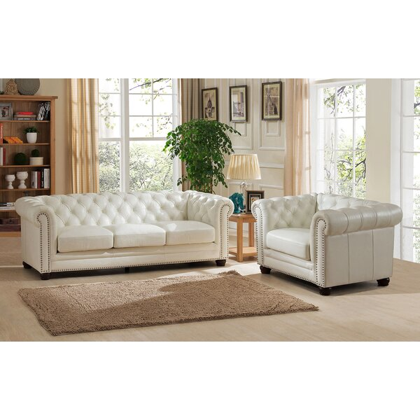 Nashville 2 Piece Leather Living Room Set by Amax